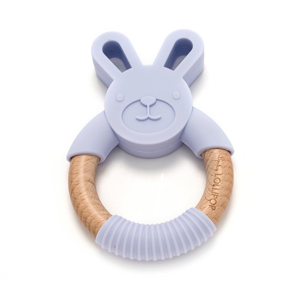 Loulou Lollipop Lilac Bunny Teether