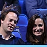 Pippa Middleton watched tennis with guy friends.
