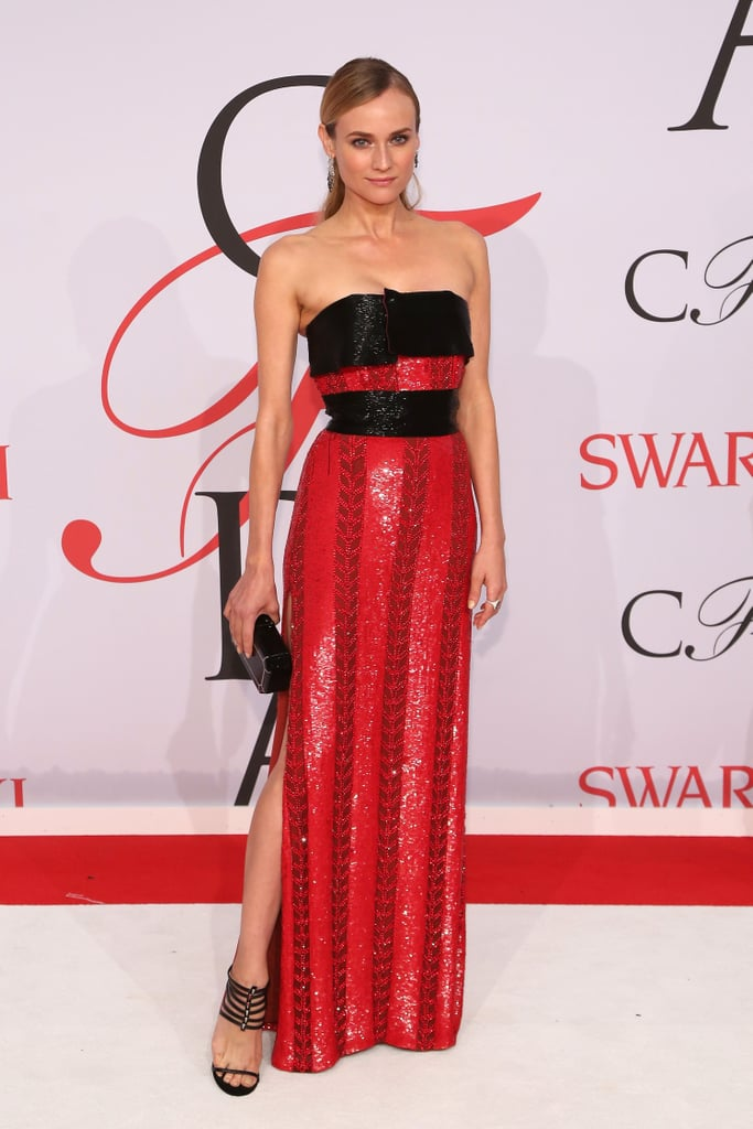 Diane looked red hot in this Prabal Gurung gown at the 2015 CFDA Awards.