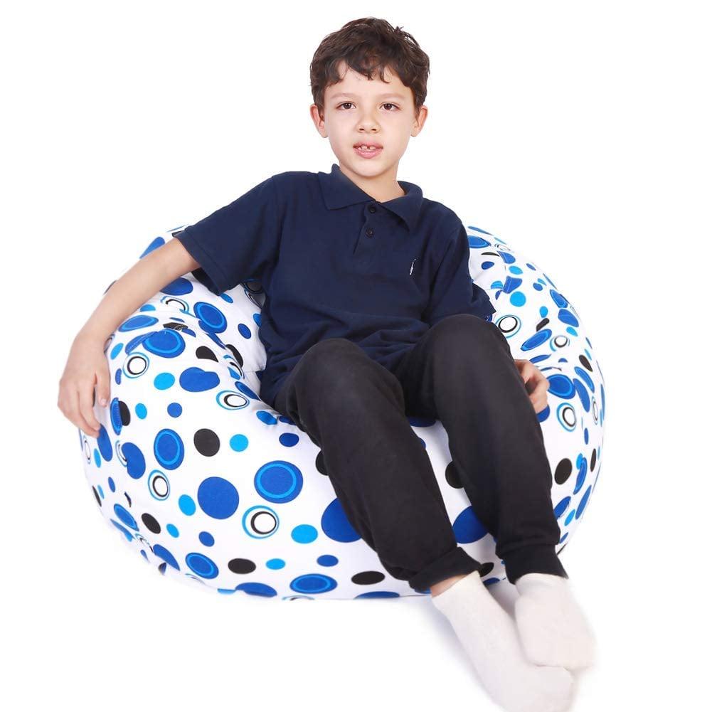 Lukeight Stuffed Animal Storage Bean Bag Chair Best Toy Storage