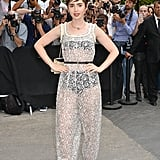 "I never suspected that years later we'd see actresses as ""normal"" or ""girl-next-door"" like as Lily Collins wearing something even more naked. But soon after Kim's much-talked about Met Gala dress, celebrities like Lily popped up everywhere — and even better, Lily's outfit is crafted from the same label that's beloved by sophisticated, fashionable women everywhere, Chanel. Forget normal — that begs the question: is the ""naked dress"" chic? Certainly not every version, no. But, I'd venture an educated guess that yes, the trend doesn't just apply to women looking to make a statment; done the right way, it's the dress for women en vogue."