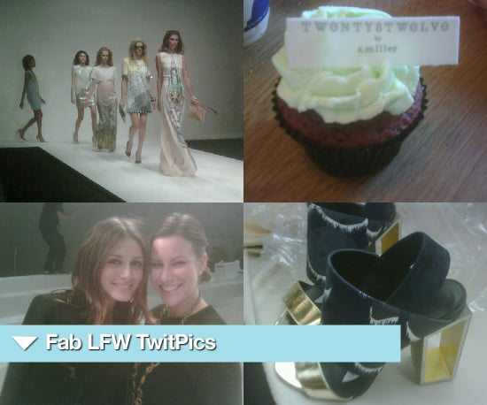 TwitPics from London Fashion Week Spring 2011