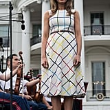 Melania in Mary Katrantzou, June