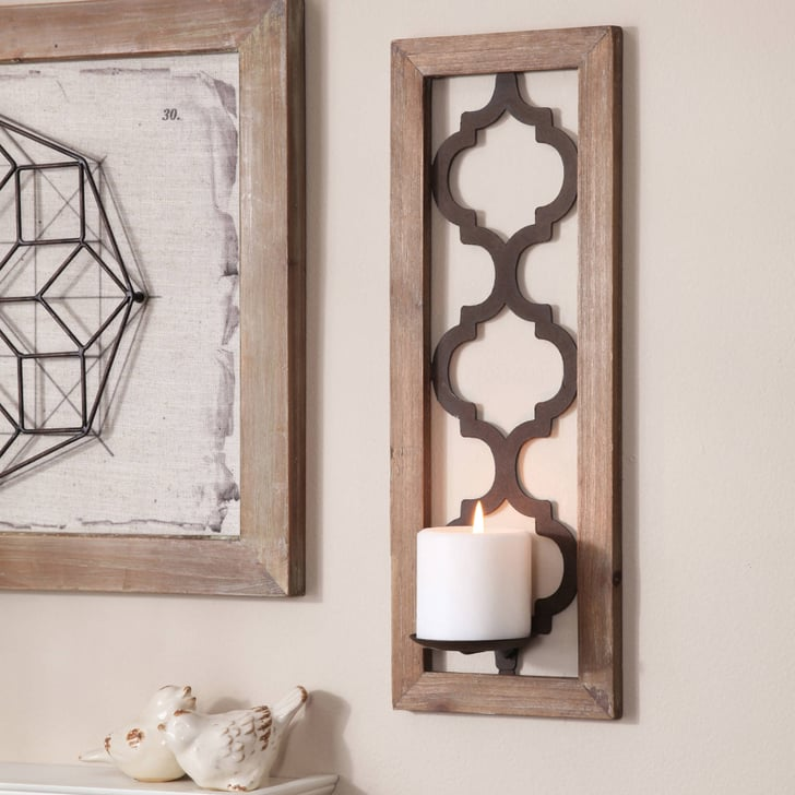 12 Home Decor Gift Ideas From Walmart: Quatrefoil Wall Sconce
