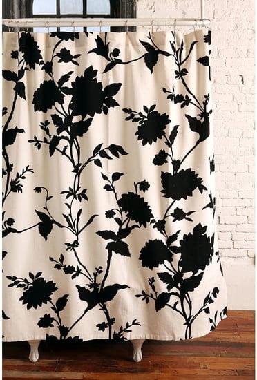 Silhouette Flower Shower Curtain ($36)