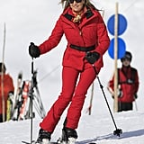Even on the Slopes, She Knows How to Stand Out