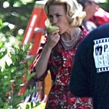 Pictures of Jan Jones on Set