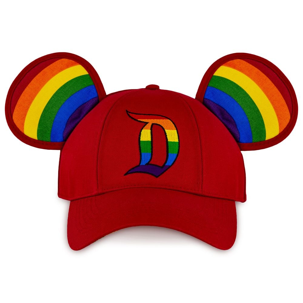 Rainbow Disney Collection Mickey Mouse Ears Baseball Cap For Adults — Disneyland