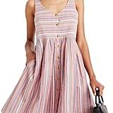 Madewell Rainbow-Stripe Tank Dress