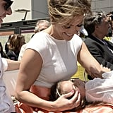 Jennifer Lopez shared a sweet moment with her daughter, Emme, during the Walk of Fame ceremony.