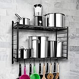 Two-Tiered Wall Mounted Pot Rack