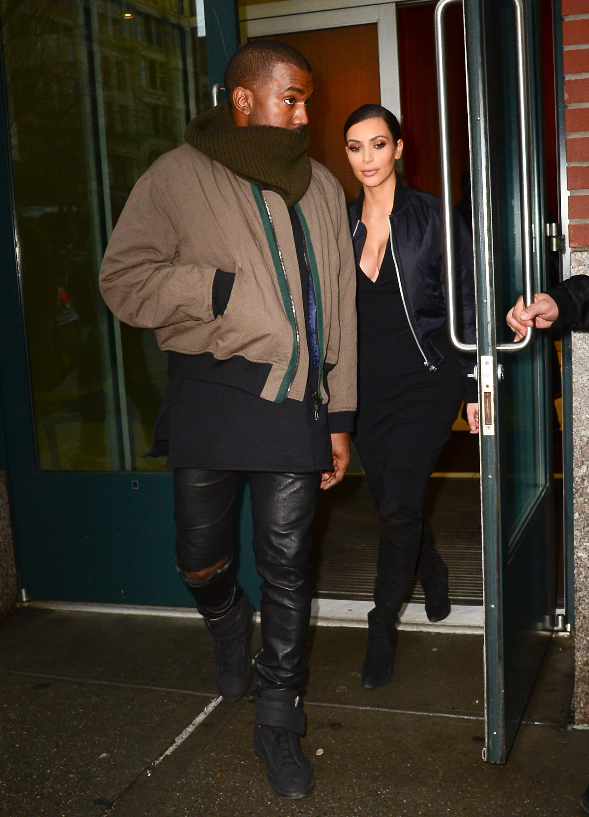 Kim and Kanye Spend Quality Time in NYC