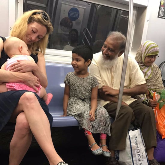 Viral Photo of 2 Families on NYC Subway