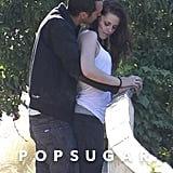Kristen Stewart and Rupert Sanders showed PDA in LA.