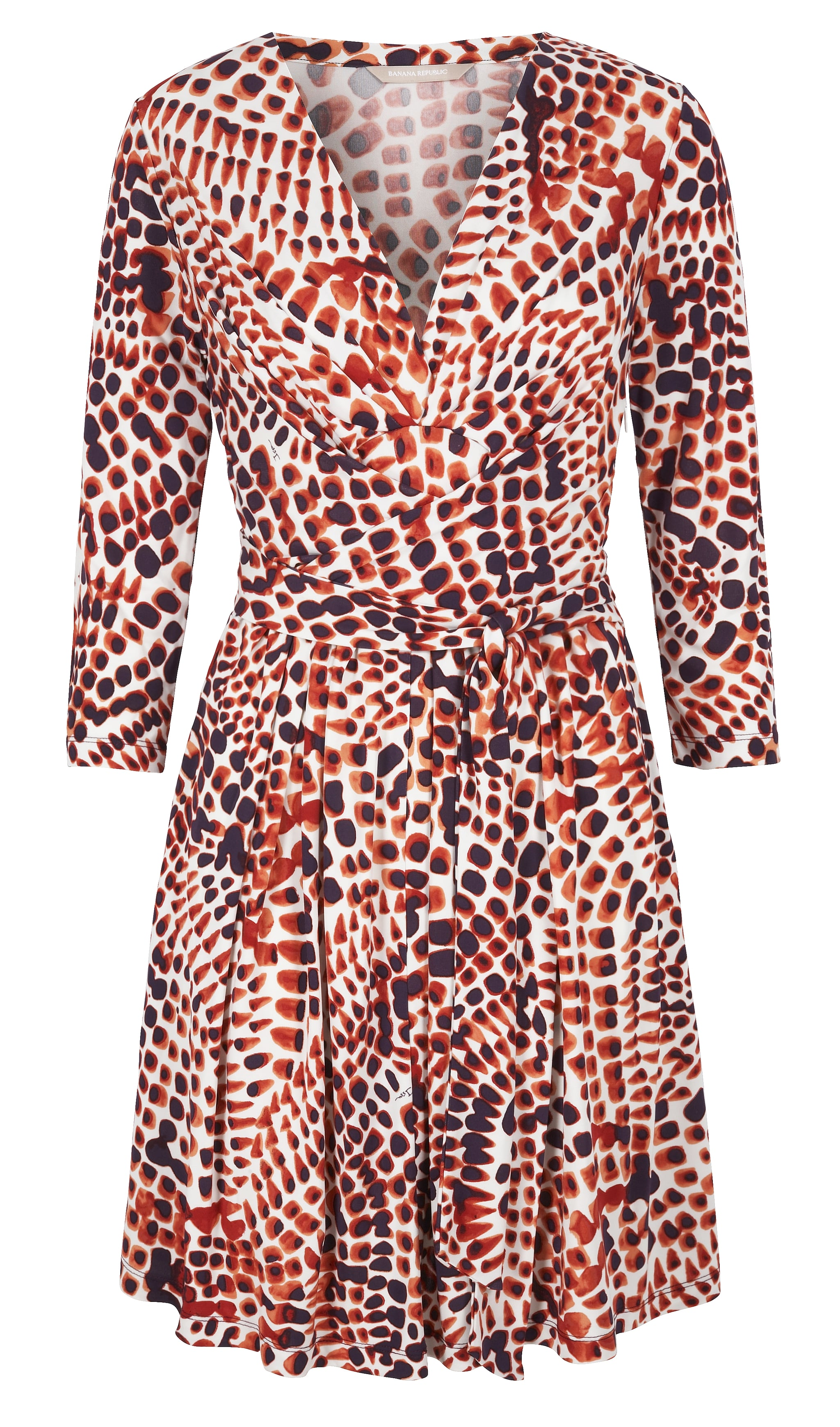 Haven't experienced the magic figure-flattering power of a wrap dress? This spotted red number ($140) is a perfect opportunity to get in on the glory. Photo courtesy of Banana Republic