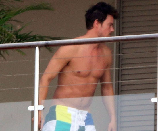 Slide Picture of Josh Duhamel Shirtless in St. Barts