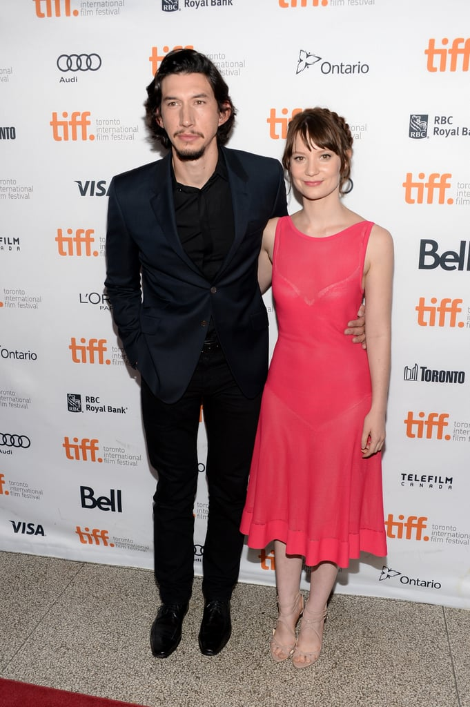 Adam Driver and Mia Wasikowska linked up for the premiere of Tracks.