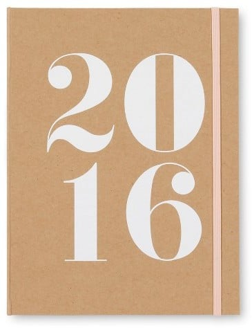 Sugar Paper Planner 2016 Weekly/Monthly 6x9 ($13)