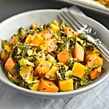 Brussels Sprouts Sweet Potato Salad with Dijon Vinegar Dressing