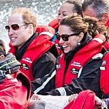 In April, the royal couple rocked sunglasses for a day out on the water in Queenstown, New Zealand.
