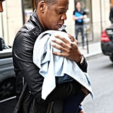 Jay-Z's little girl, Blue Ivy Carter, was born to him and wife Beyoncé in January 2012.