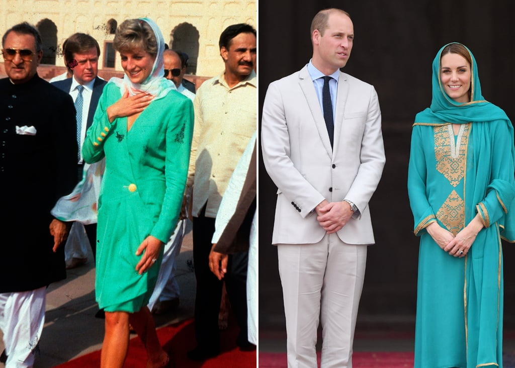 Photos of Princess Diana and Kate Middleton's Pakistan Tours