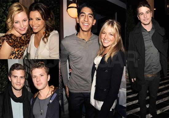 Photos of Sienna Miller, Dev Patel, Ryan Phillippe, Josh Hartnett, Ginnifer Goodwin, Eva Longoria at a Pre-Oscars Party