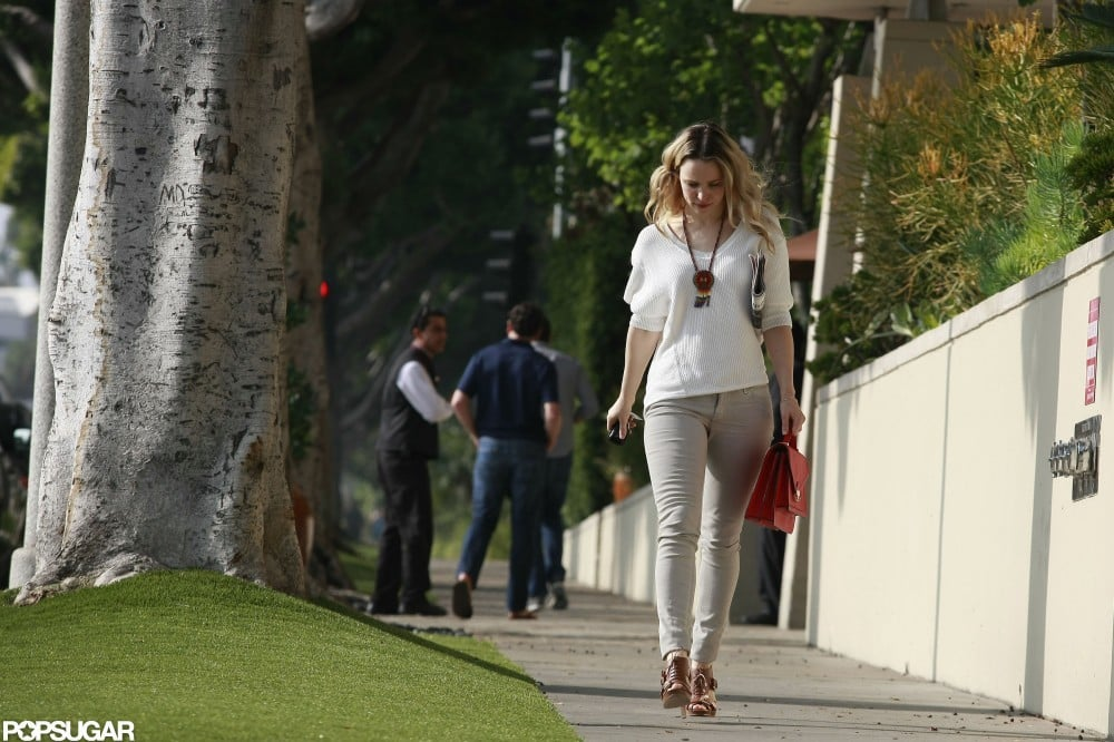 Rachel McAdams stopped by the L'Ermitage Hotel in LA.