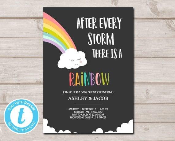 Rainbow Baby Shower Ideas