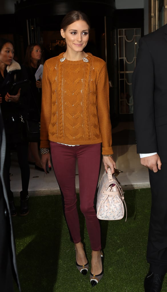 Olivia Palermo made her way into the Mulberry show.