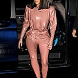 Kim Kardashian Balmain Latex Look 3