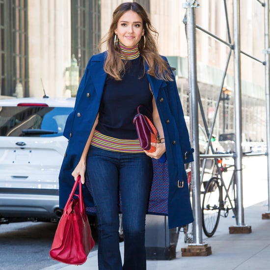 Jessica Alba New York Fashion Week Looks