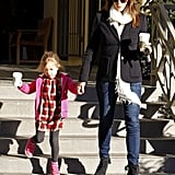 Jennifer Garner had the company of Seraphina for a coffee stop in LA.