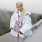 Ariana Grande Outfit: A Puffer Coat + Leggings