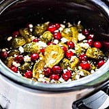 Slow Cooker Brussels Sprouts With Maple Syrup, Cranberries and Feta