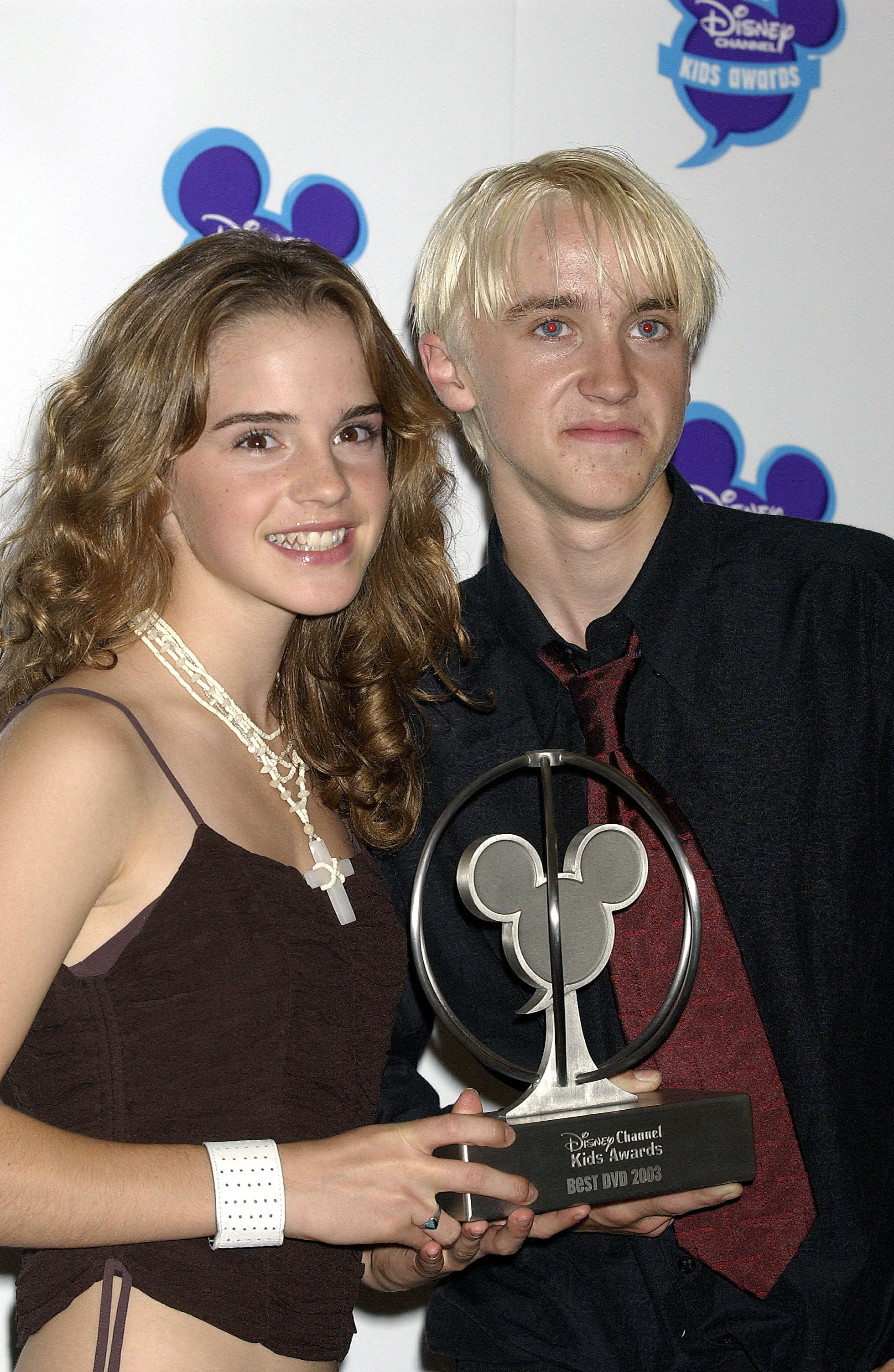 When They Won A Disney Channel Kids Award Emma Watson And Tom Felton S Friendship Makes Us Want To Rewatch All The Harry Potter Films Popsugar Celebrity Photo 13