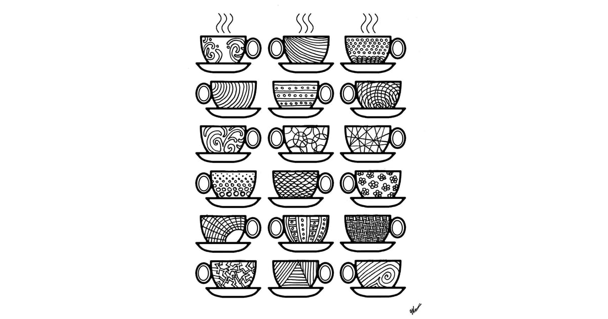 Get the coloring page Coffee cups