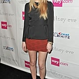 Whitney Port showed off her stems backstage at her Whitney Eve show.