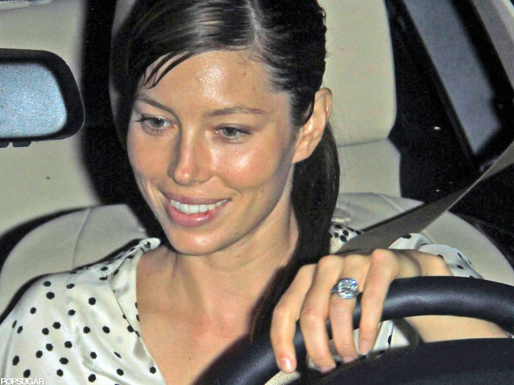 Jessica Biel showed off her engagement ring. | Jessica ...