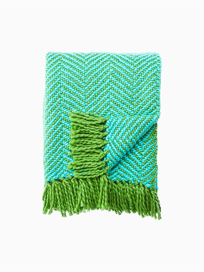 Seaport Herringbone Throw Blanket ($119)