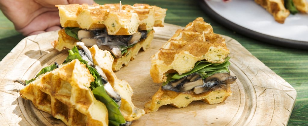 Rosemary, Parmesan, Mushroom and Spinach Waffles Recipe