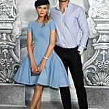 Diane Kruger and boyfriend Joshua Jackson posed together at the Chanel photocall in Paris.