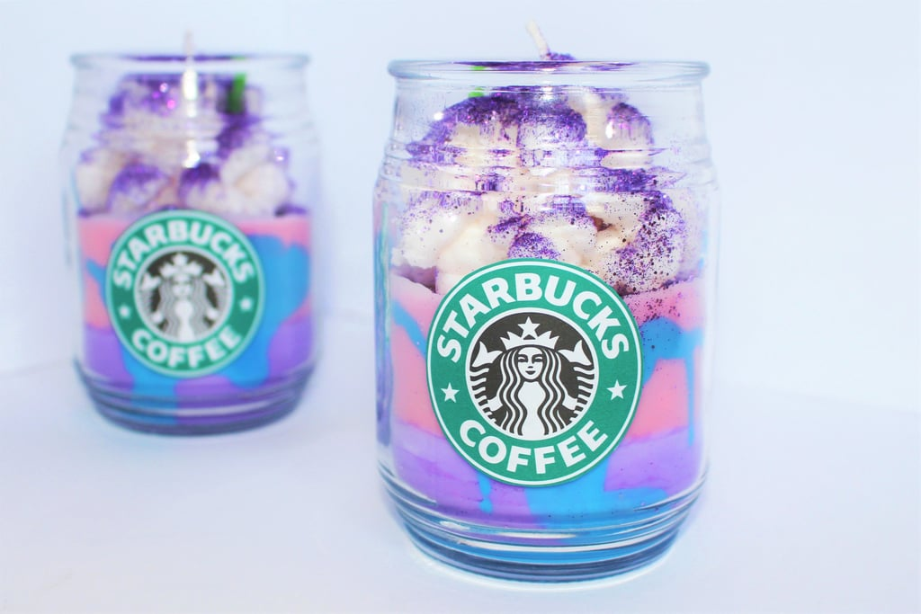 Starbucks Unicorn Frappuccino Candle — Large ($22)