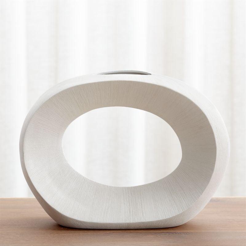 Celeste: Alura Cream Open Vase