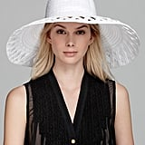 Pair this crisp Eric Javits sun hat ($295) with a gauzy white blouse and matching skimmers for a white-hot look worthy of any Saint-Tropez party.