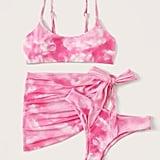 Shein 3 Pc. Tie-Dye Co-ord Bikini Set