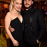 Emilia Clarke and Kit Harington turned the 2018 Golden Globes into a Westerosi meetup.