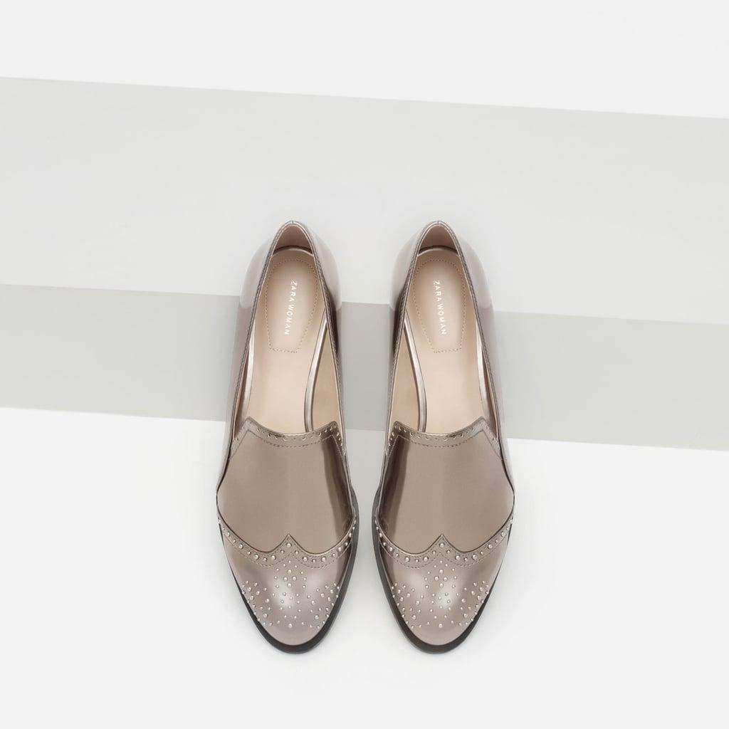 fc0c5b3708c Zara Metallic Loafers ( 50)