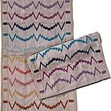 Missoni Home Vera Set of 2 Beige Multi Electrocardiogram Stripe French Terry Hand Towels