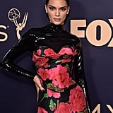 Kendall Jenner's Black Nail Polish Colour at the 2019 Emmys